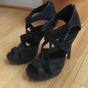 Strappy stiletto heels
